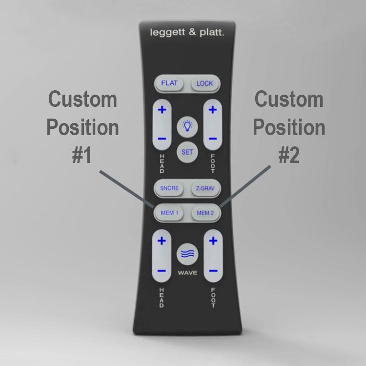 Adjustable Beds Remote with Custom Position Buttons